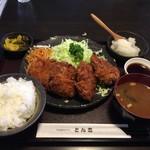 とん吉 - 料理写真:おろしヒレカツ定食 ¥1400