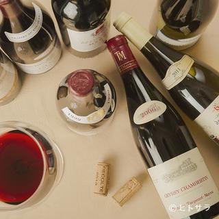 イタリアとフランスを中心にセレクトされた豊富なワイン