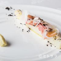 ル・ミロワール - 季節を感じる一皿『フランス産白アスパラガス アンティチョークのピューレ添え』