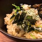 澄まし麺 ふくぼく - 鴨だしご飯380円