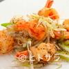 1833 - 料理写真:プリプリの海老と葱だけをシンプルに『エビの黒胡椒炒め』
