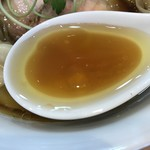 らぁ麺屋 飯田商店 - 【2017.4.13】ややオイリーで円みある清湯スープ。