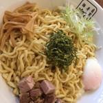 麺屋 翔 - 油そば特盛温玉ニンニク背脂アリアリ ¥600