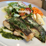 ジレカフェ - 白身魚のソテー ジェノバソース