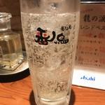 番鳥 - 五代梅酒ソーダ割り 450yen