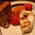 喃喃 - チーズとイチゴのバルサミコ酢