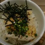 タムラ食堂 - この日のご飯は鶏塩丼 鶏胸肉は2枚ですが、タレが美味