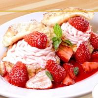 4/29(土)より期間限定♪苺モンブランのパンケーキ