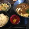 情熱うどん讃州 - 料理写真:カレー釜玉ランチ