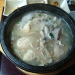 にっこりマッコリ - 自家製半サムゲタン定食(990円)