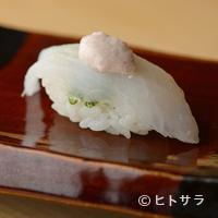 鮨 歴々 - 丁寧なひと手間がかけられた肝と共に味わう『カワハギ』