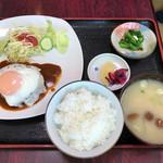多楽福亭 - 料理写真:サービスランチ/ハンバーグ850円