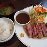 洋食SAEKI - ヘレビーフカツ(ご飯は中)
