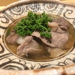 銀座 しのはら - うりぼうと月の輪熊 花山椒、水菜の鍋