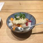 焼鳥 ふくなが - コース~季節の角切り野菜 味噌バーニャ~