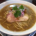 らぁ麺 紫陽花 - 鶏油煮干らぁ麺