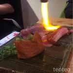 加藤商店 バル肉寿司 since2010 by 炉とマタギ - さしとろ炙ってくれます