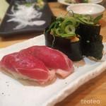 加藤商店 バル肉寿司 since2010 by 炉とマタギ - フォアグラ軍艦、鴨トロ
