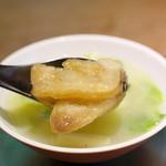 齋華 - 三品目/蛤とうるいのスープ(蛤アップ)