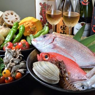 三河の旬魚・旬菜使用!サクッと揚げたこだわりの天ぷら♪
