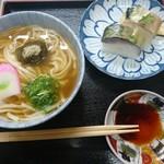 満寿形屋 - 鯖寿司うどんセット 1,000円
