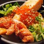 66340285 - 鮭といくらの海鮮茶漬け+炙り明太子 980円 のお茶漬け