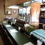 フジヤ - インドカレー・フジヤ @三越前 L字型カウンター席のみのコンパクトサイズの店内