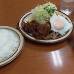 馬場南海 - カキフライと生姜焼き定食750円です。