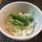 寛~くつろぎ~ - 「〆のお茶漬け用酢飯」70円