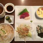 ベジキューブカフェ - 夜カフェセット♬1000円(o'ω'o)湯葉がかかったごはんが美味しい⭐️
