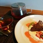 ラ クラルテ - 料理写真:紅茶(ポット)&ガトーショコラ