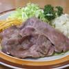 ミツワグリル - 料理写真:(豚)焼肉は薄切りロース肉が二枚