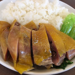 南粤美食 - 丸鶏の塩蒸し添えごはん