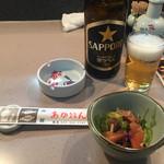 函館あかちょうちん - 2017年5月。瓶ビール中瓶480円。
