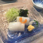 函館あかちょうちん - 2017年5月。モンゴいか刺し780円。