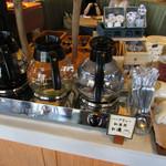 グリーンテーブル - ドリンクバー:ホットコーヒー・ハーブティー紅茶用お湯