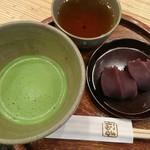 赤福茶屋 - 料理写真:赤福盆(2個入)と抹茶