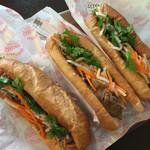 バインミー☆サンドイッチ - ベトナムハム&レバーペースト 550円 豚焼肉 550円 海老&アボカド 550円