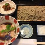 舞扇 - 料理写真:豚せいろ 900円 そぼろ御飯 +50円