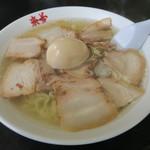 来夢 - 料理写真:塩チャーシュー+卵