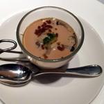 レストラン 西本 - うにのコンソメロワイヤル シブレットと柚子の香り添え