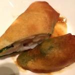 レストラン 西本 - 海老とチーズの香り春巻き