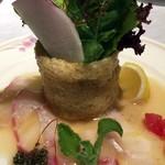 レストラン 西本 - 18種野菜と鯛のカルパッチョ