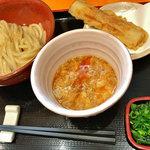 うつ輪 - 料理写真:玉子つけ麺とちくわ天