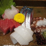 北薩摩 - トミー盛(天然平目、釣り鯖、マグロ、関門(海峡)タコ):1900円