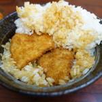 とんかつ政ちゃん - 特製かつ丼は二段かつ&ご飯