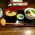 そば処 善作家 - そぼろ丼定食 630円