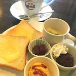 珈琲 池田屋 - 料理写真:ブレンドコーヒー¥420 小倉トーストモーニング(2017/5現在)