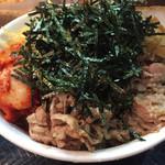 壬生 - 肉キムチぶっかけ並750円
