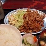 だるま屋 - 豚肉の生姜焼き定食 (過去に頂いたもの)